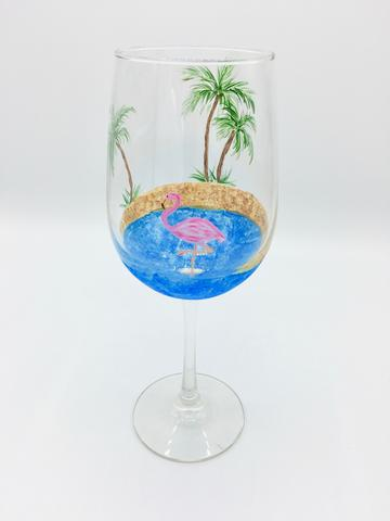 Flamingo - Wine Glass