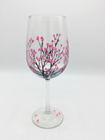 Cherry Blossoms - Wine Glass