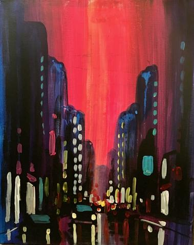 Summer In The City paint night by paint and cocktails